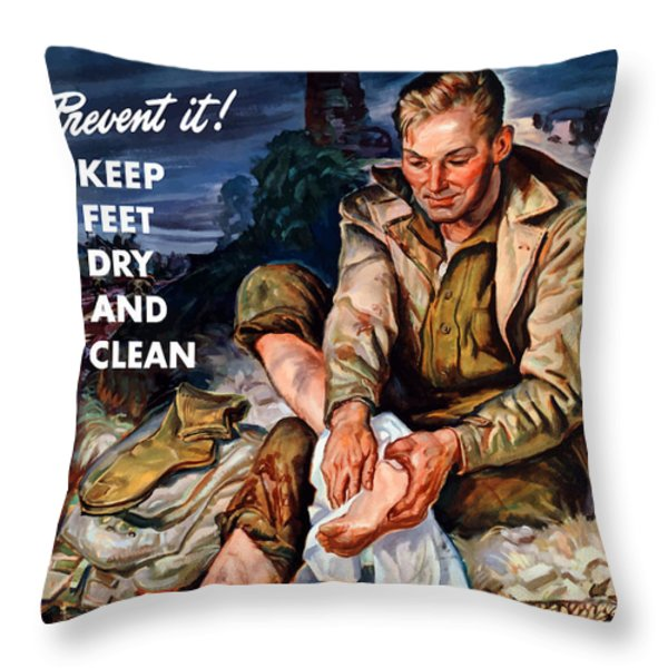 This Is Trench Foot Throw Pillow by War Is Hell Store