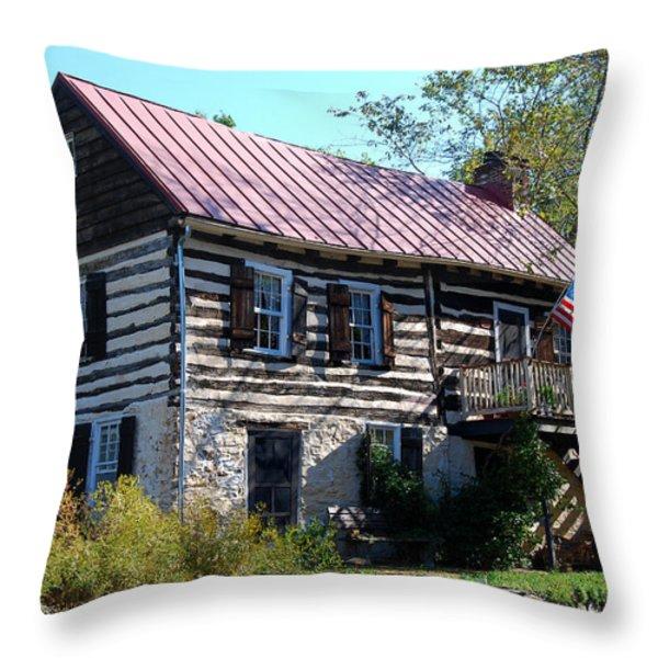 This Old House Throw Pillow by Eva Kaufman
