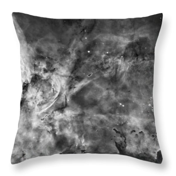 This View Of The Carina Nebula Throw Pillow by ESA and nASA