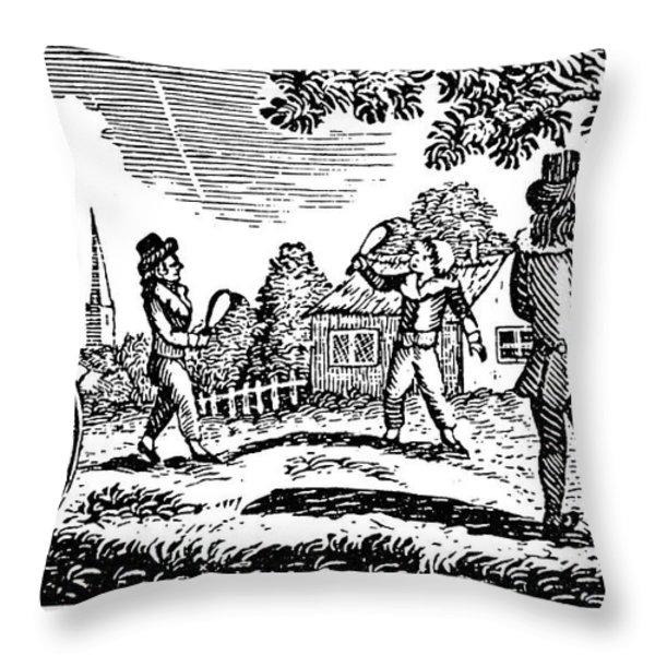Thomas Bewick: Children Throw Pillow by Granger