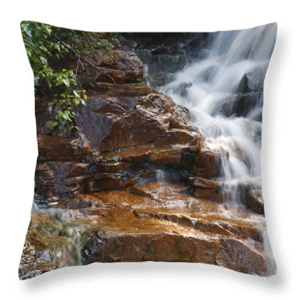 Thoreau Falls - White Mountains New Hampshire  Throw Pillow by Erin Paul Donovan