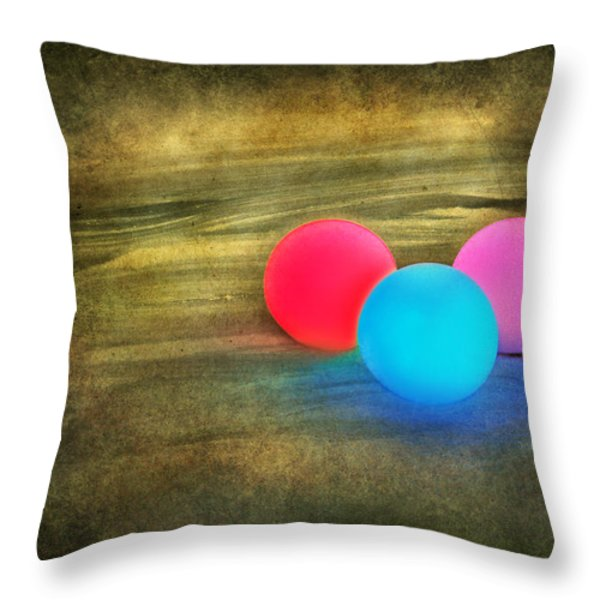 Three Light Bulbs Throw Pillow by Svetlana Sewell