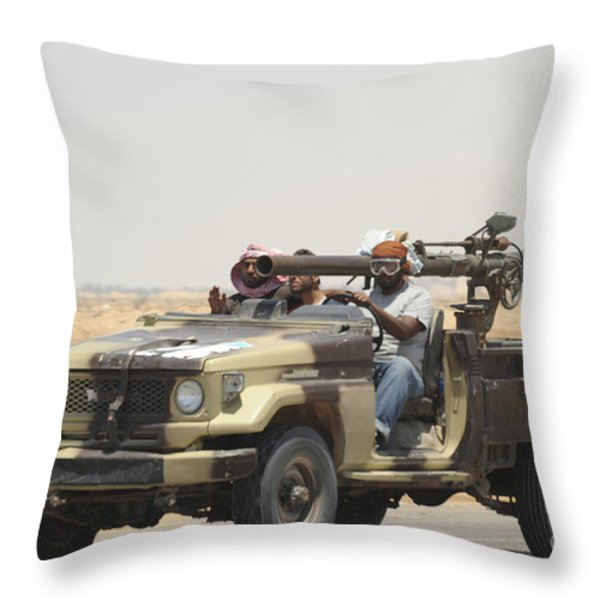 Three Rebel Fighters In A 4x4 Throw Pillow by Andrew Chittock
