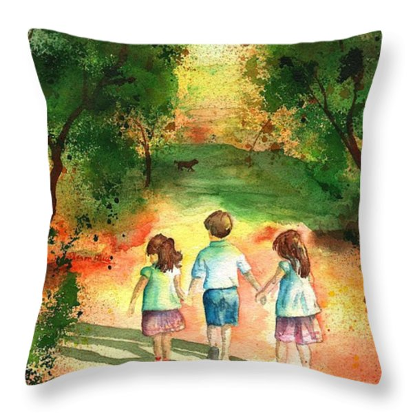 Three S Company Throw Pillow by Sharon Mick