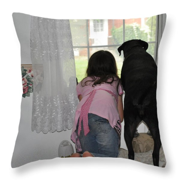 Through The Looking Glass Throw Pillow by Paul Ward