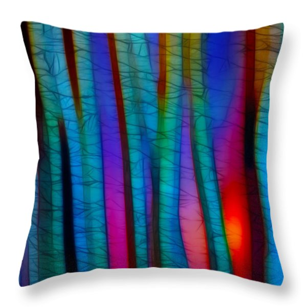 Through The Trees Throw Pillow by Judi Bagwell