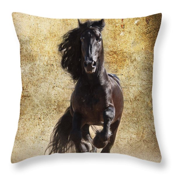 Thundering Stallion D6574 Throw Pillow by Wes and Dotty Weber