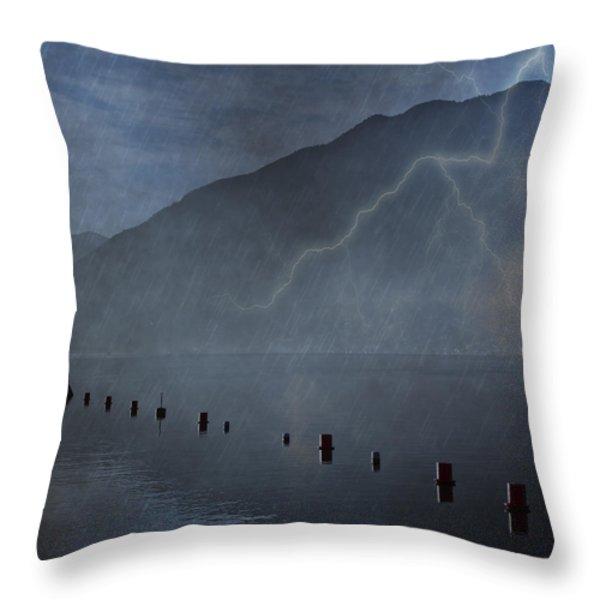 Thunderstorm Throw Pillow by Joana Kruse
