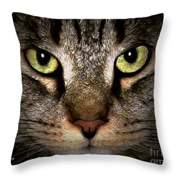 Tiger Tiger Throw Pillow by Dale   Ford
