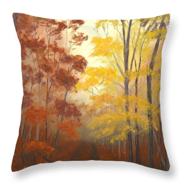 Timber Road Throw Pillow by Garry McMichael