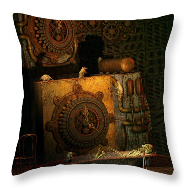 Time Passes Throw Pillow by Jutta Maria Pusl