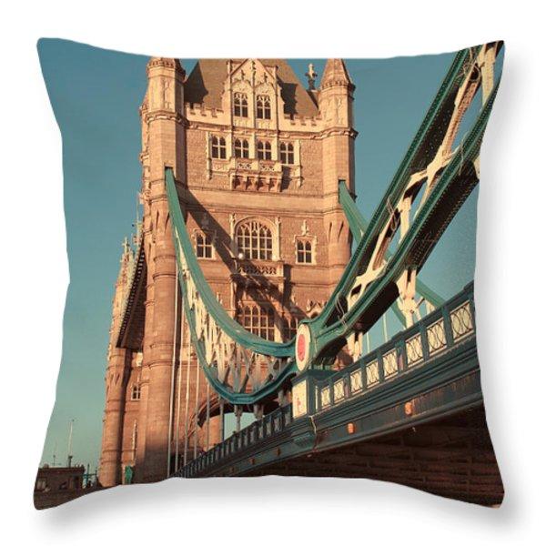 Timeless Tower Bridge Throw Pillow by Jasna Buncic