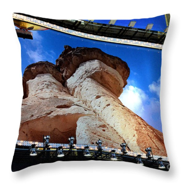Times Square Billboards Throw Pillow by Pravine Chester