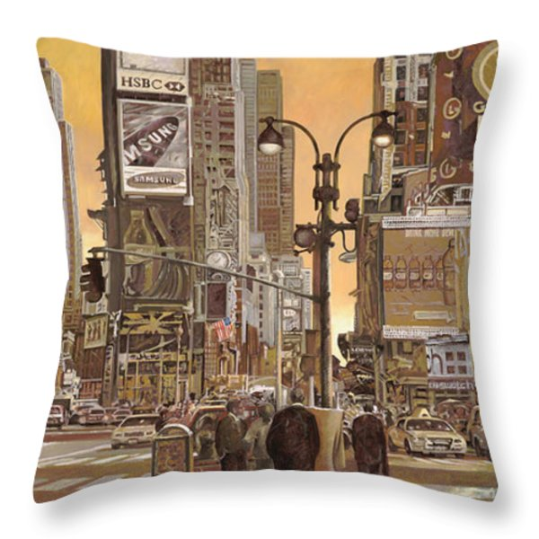 times square Throw Pillow by Guido Borelli