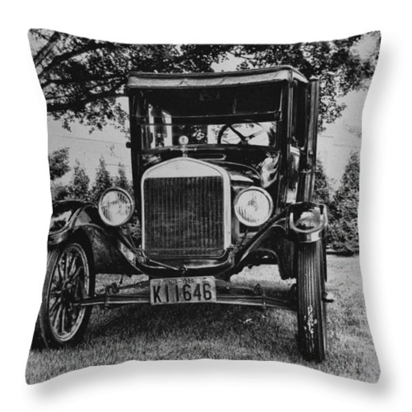 Tin Lizzy - Ford Model T Throw Pillow by Bill Cannon