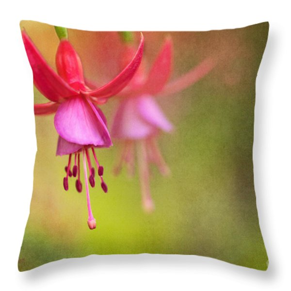 Tinkerbells Ball Gown Throw Pillow by Reflective Moment Photography And Digital Art Images