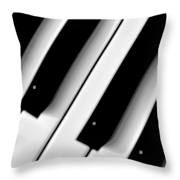 Tinkling The Ivories Throw Pillow by Bill Cannon