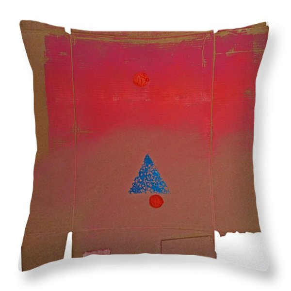 Tipi With Fire Throw Pillow by Charles Stuart