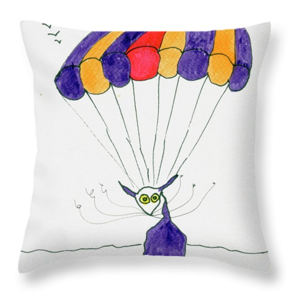 Tis just dropping in Throw Pillow by Tis Art
