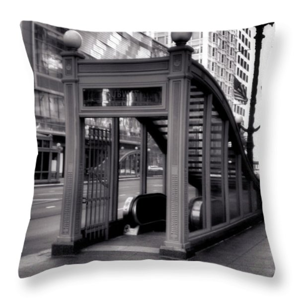 To The Subway - 2 Throw Pillow by Ely Arsha