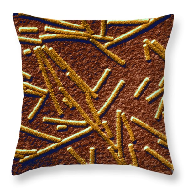 Tobacco Mosaic Virus Throw Pillow by Omikron