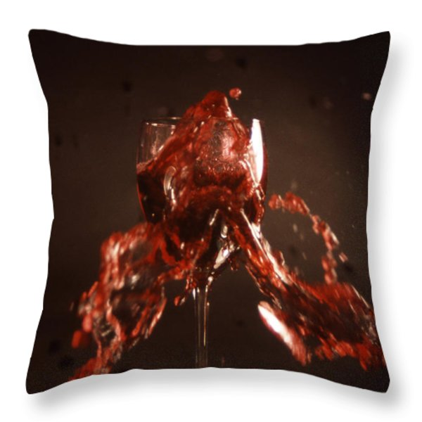 Too Much Wine Throw Pillow by Skip Willits