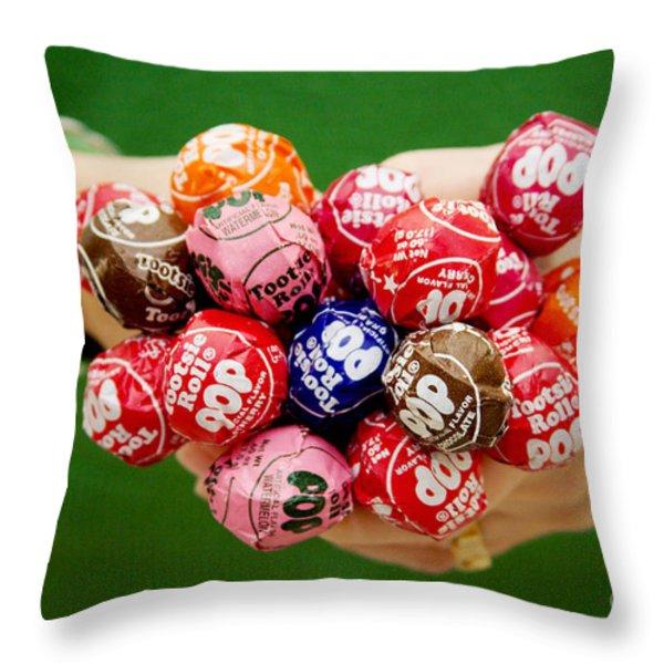 Tootsie Pop  Throw Pillow by Kim Fearheiley