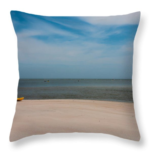 Topsail Kayak Throw Pillow by Betsy A  Cutler
