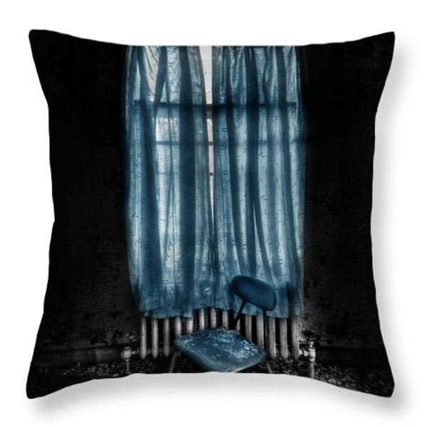 Tormented In Grace Throw Pillow by Evelina Kremsdorf