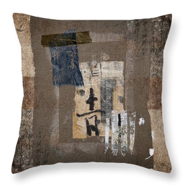 Torn Papers On Wall Number 3 Throw Pillow by Carol Leigh