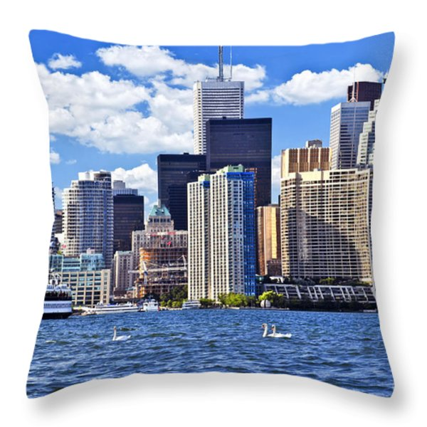 Toronto waterfront Throw Pillow by Elena Elisseeva