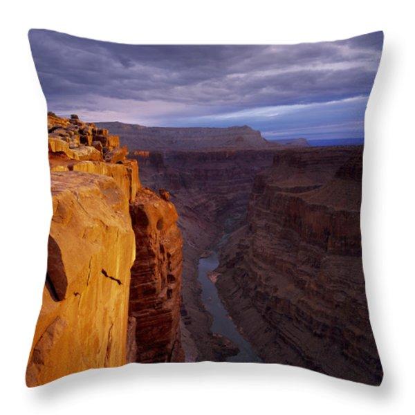 Toroweap Overlook Cliff Throw Pillow by Leland D Howard