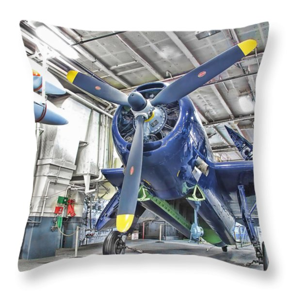 Torpedo Bomber Throw Pillow by Jason Abando