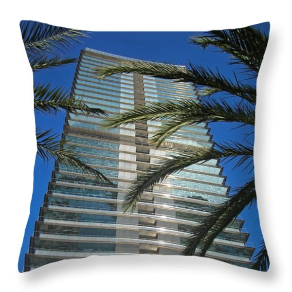 Torre Mapfre - Barcelona Throw Pillow by Juergen Weiss