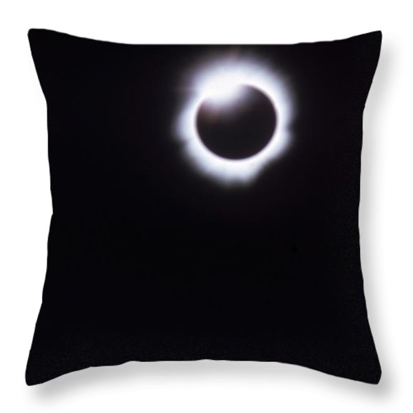 Total Solar Eclipse Throw Pillow by Photo Researchers