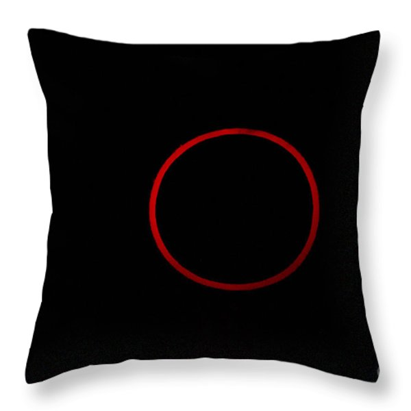 Totality During Annular Solar Eclipse Throw Pillow by Phillip Jones