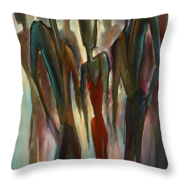 'touch Of Red' Throw Pillow by Michael Lang