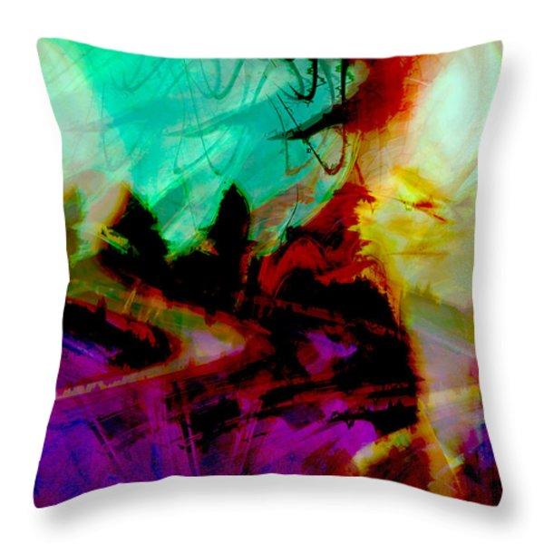 Touch of the Sun Throw Pillow by Linda Sannuti