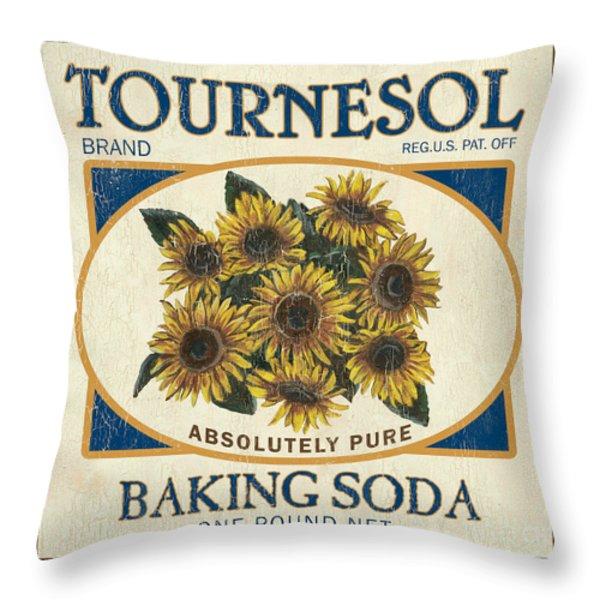 Tournesol Baking Soda Throw Pillow by Debbie DeWitt