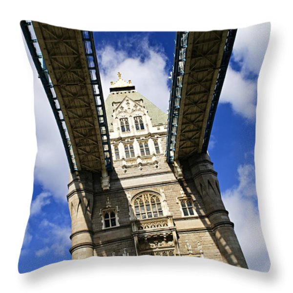 Tower bridge in London Throw Pillow by Elena Elisseeva