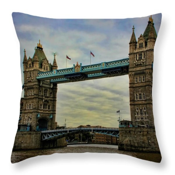 Tower Bridge London Throw Pillow by Heather Applegate