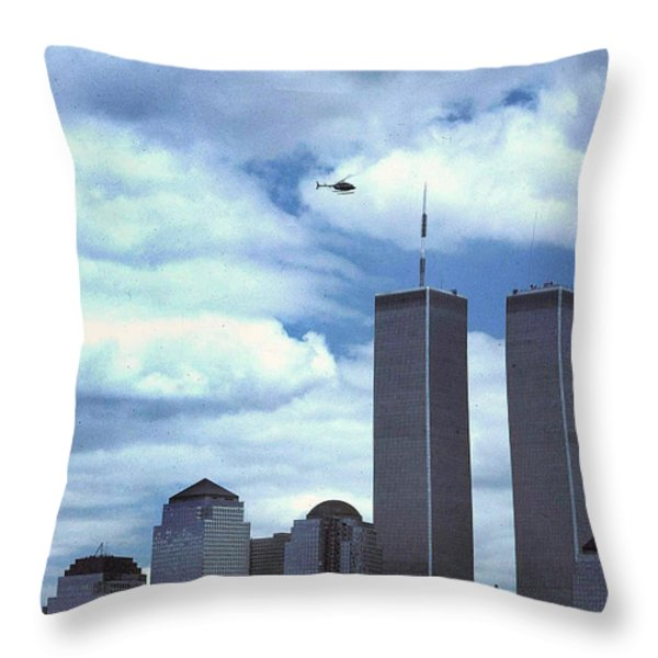 Towers Throw Pillow by Skip Willits
