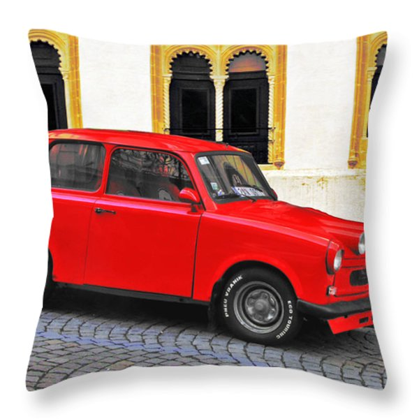 Trabant Ostalgie Throw Pillow by Christine Till