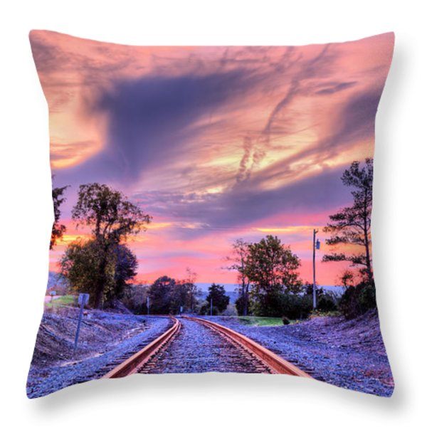 Tracking Towards a Cure Throw Pillow by JC Findley