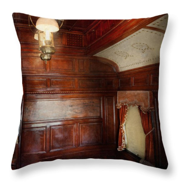 Train - Car - The lovers car Throw Pillow by Mike Savad