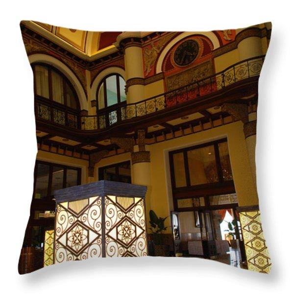 Trainstation Hotel Nashville Throw Pillow by Susanne Van Hulst