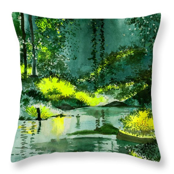 Tranquil 1 Throw Pillow by Anil Nene
