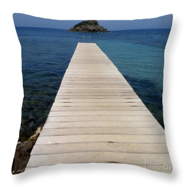 Tranquility  Throw Pillow by Lainie Wrightson