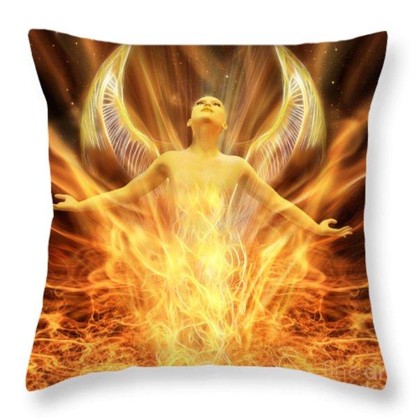 Transcend Throw Pillow by John Edwards