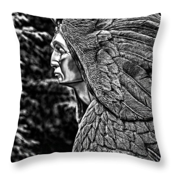Transformation Through Forgiveness - BW Throw Pillow by Christopher Holmes